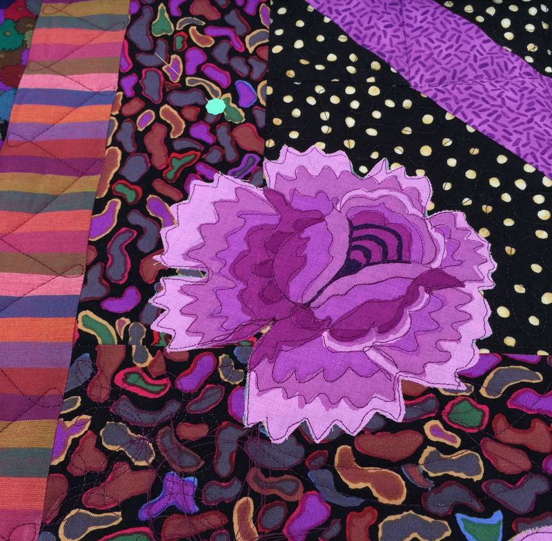 Detail of flower applique