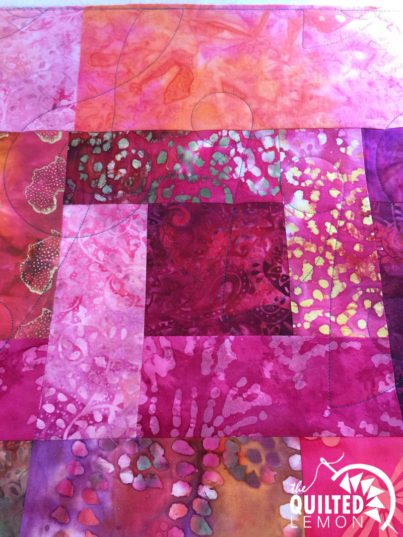Jazz Panto on Alenes batik quilt