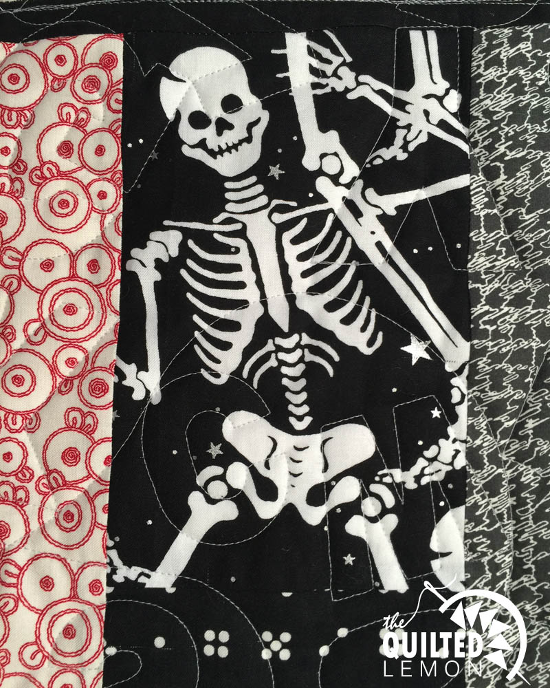 Skeleton detail from Lynnes quilt