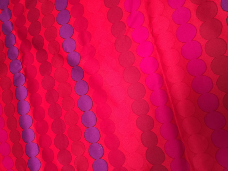 Marimekko red cotton sateen