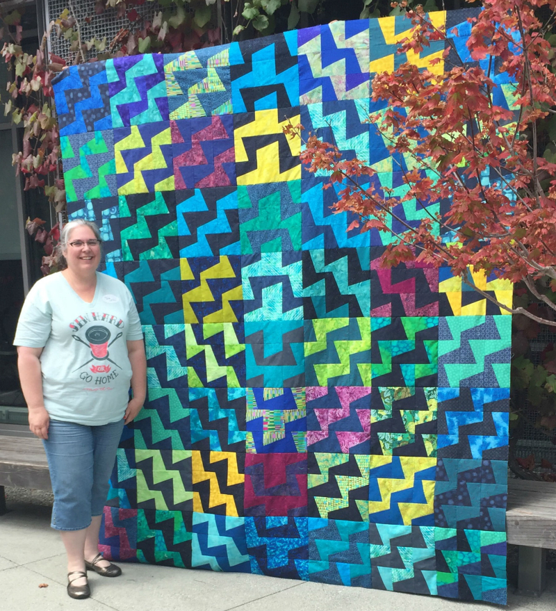 Fractured Quilt top finished