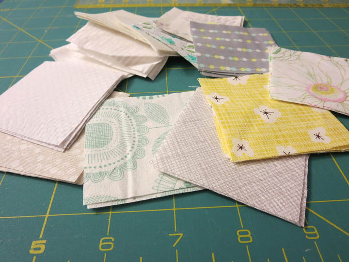 Low Volume fabric squares