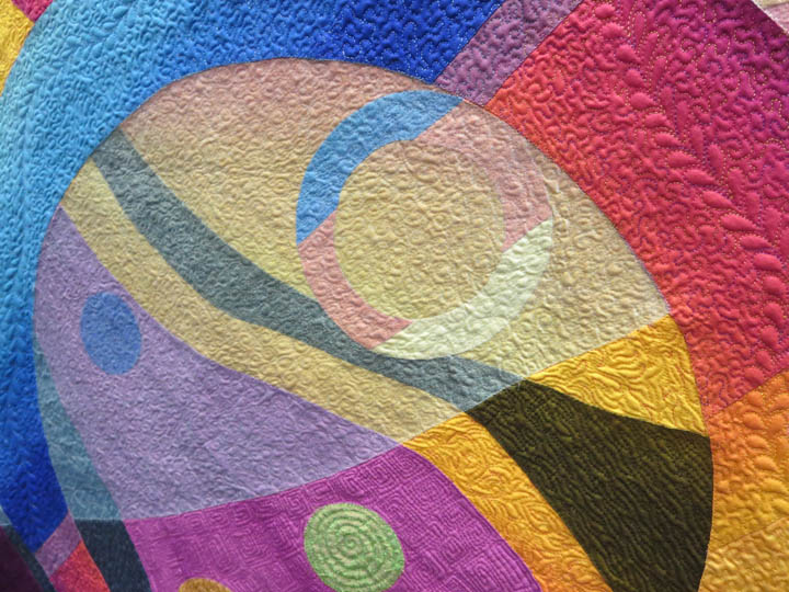 It All Comes Around by Karlyn Bue Lohrenz quilting detail