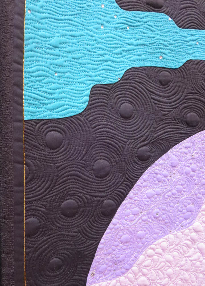 Fly Me to the Moon by Jerry Granata quilting detail