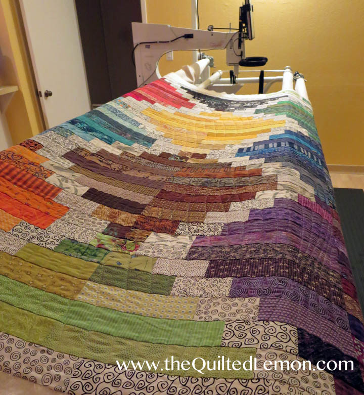 Kathleen Soul Searching quilt with Modern Curves quilting
