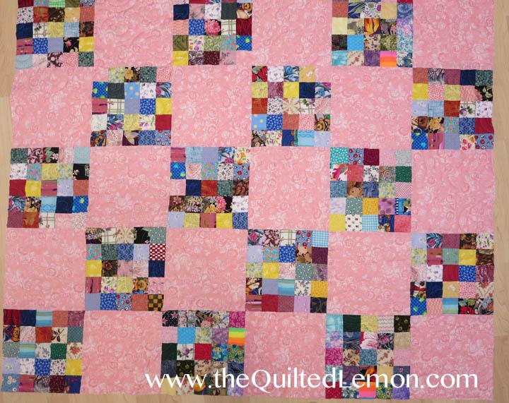 1Pink Charity quilt Vanilla Cream panto copy