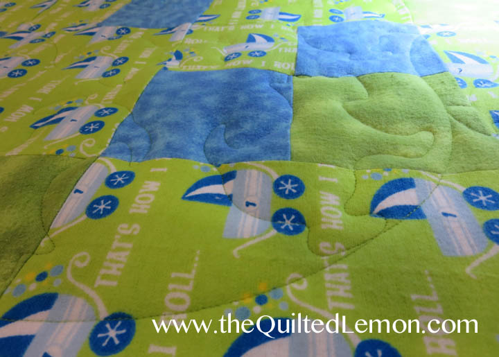1Jack Panto baby charity quilt detail