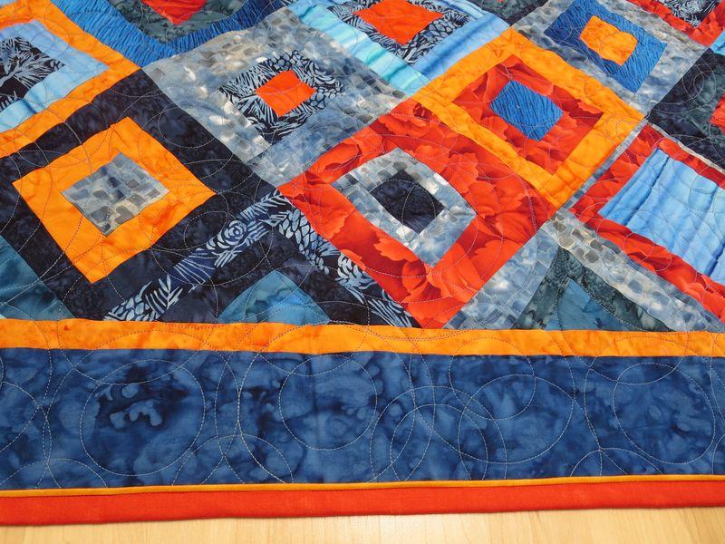 Detail of Blue Orange quilt
