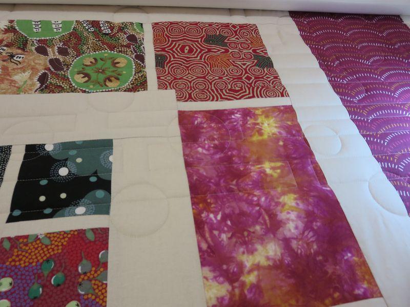 Julies Australian quilt detail