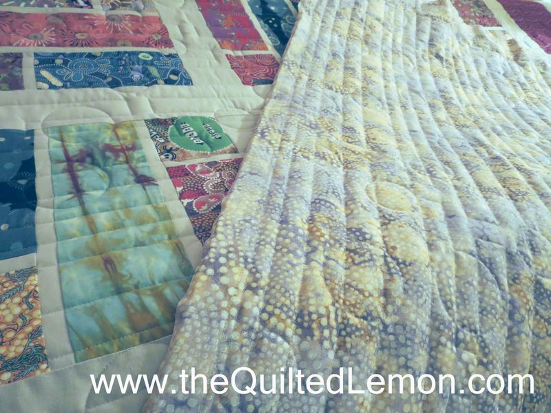 Julies Australian quilt top and back