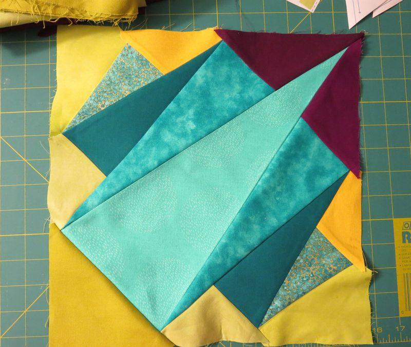 Folded Quilt block untrimmed