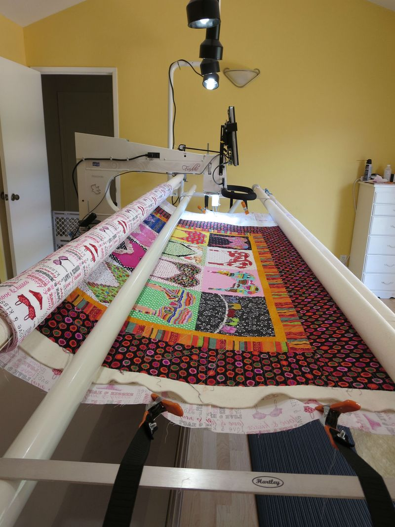 Bra Quilt on Frame