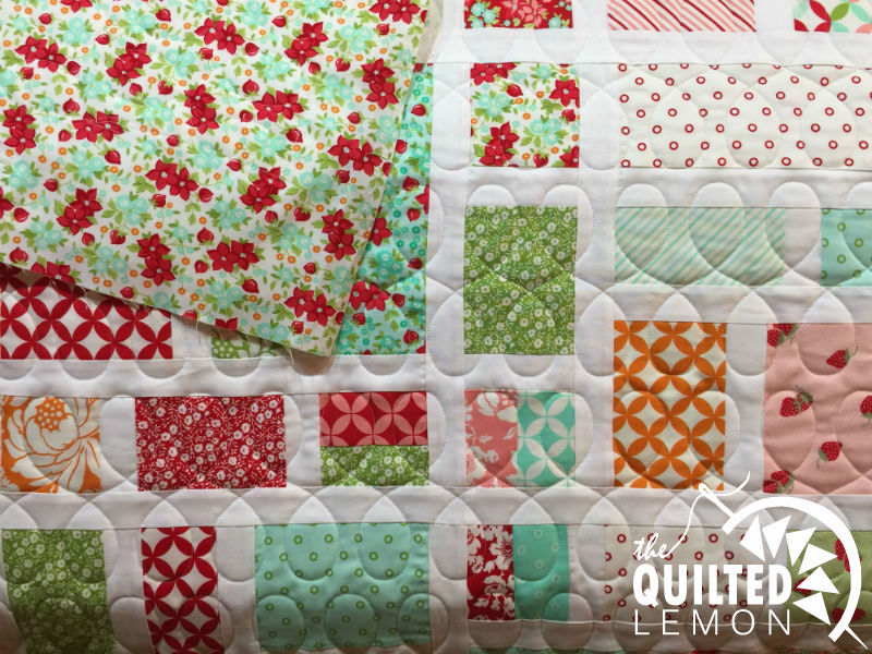 Megan quilt top and back modern loops panto