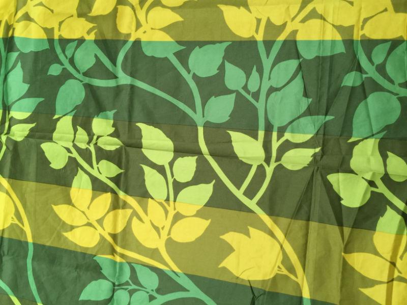Marimekko green cotton sateen