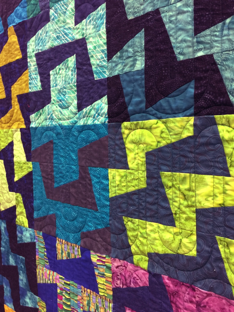 Fractured Cool Tones Quilt detail two