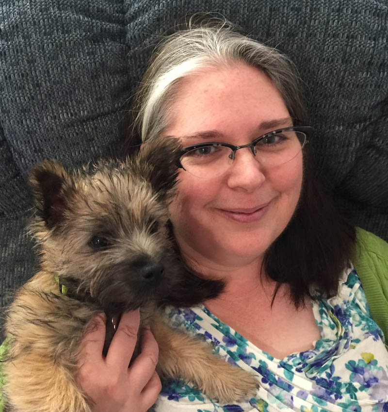 Tami and puppy Frankie 2015