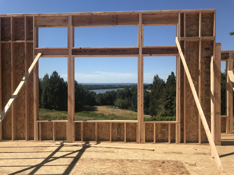 Living Room Windows Framed
